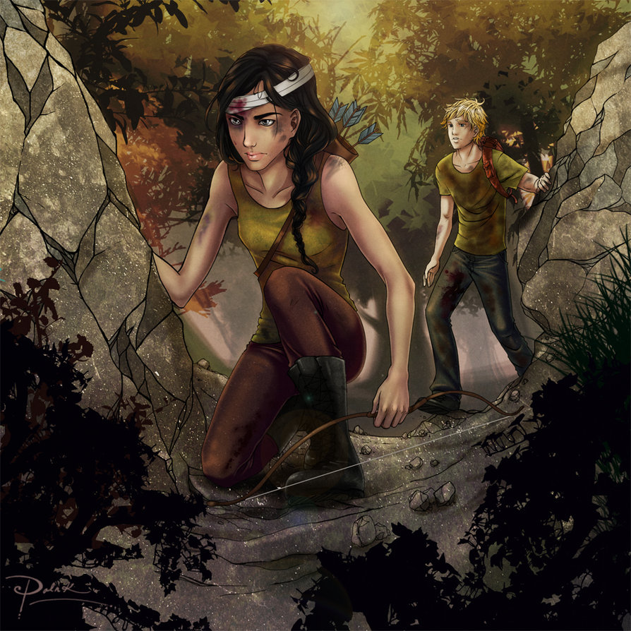Katniss and Peeta Cave Scene, Amazing Art - The Fandom | 894 x 894 jpeg 233kB