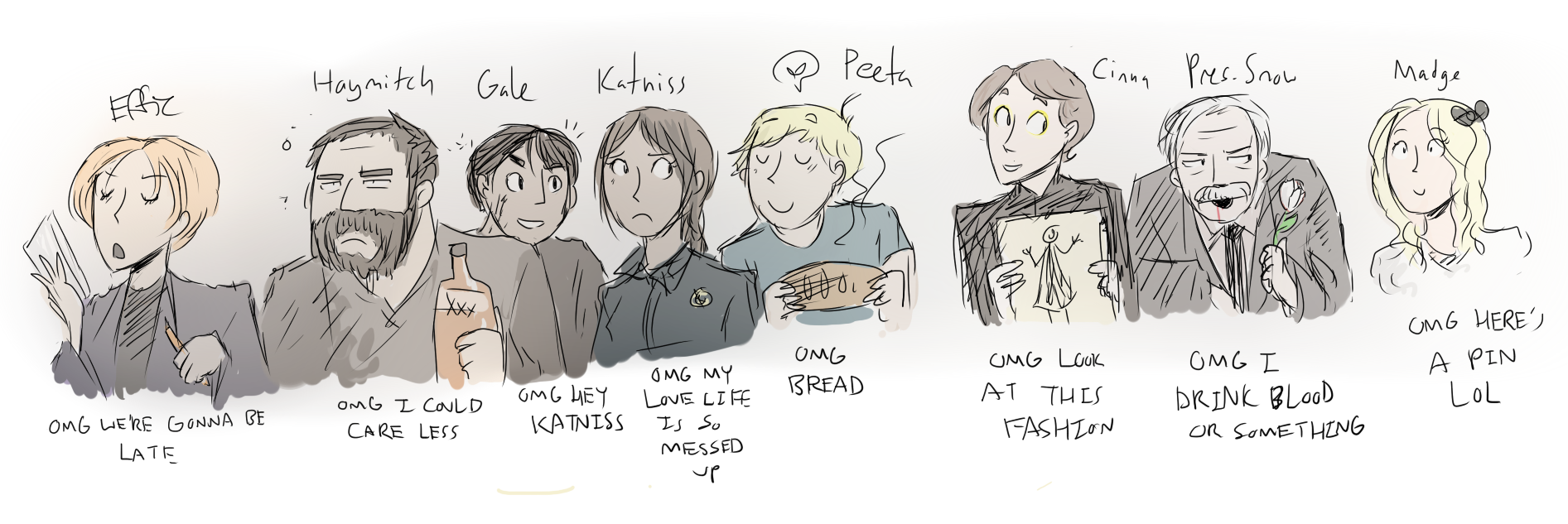 hunger games trilogy characters