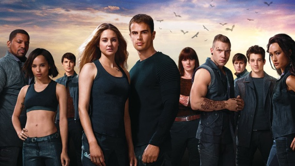 The cast of Divergent.