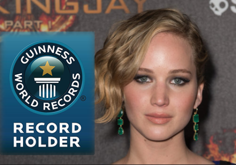 jennifer lawrence guinness world records
